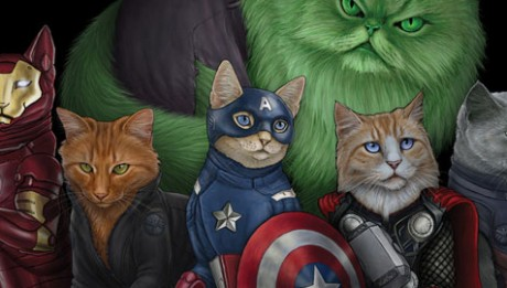 Des-chats-en-Super-Hros-!-