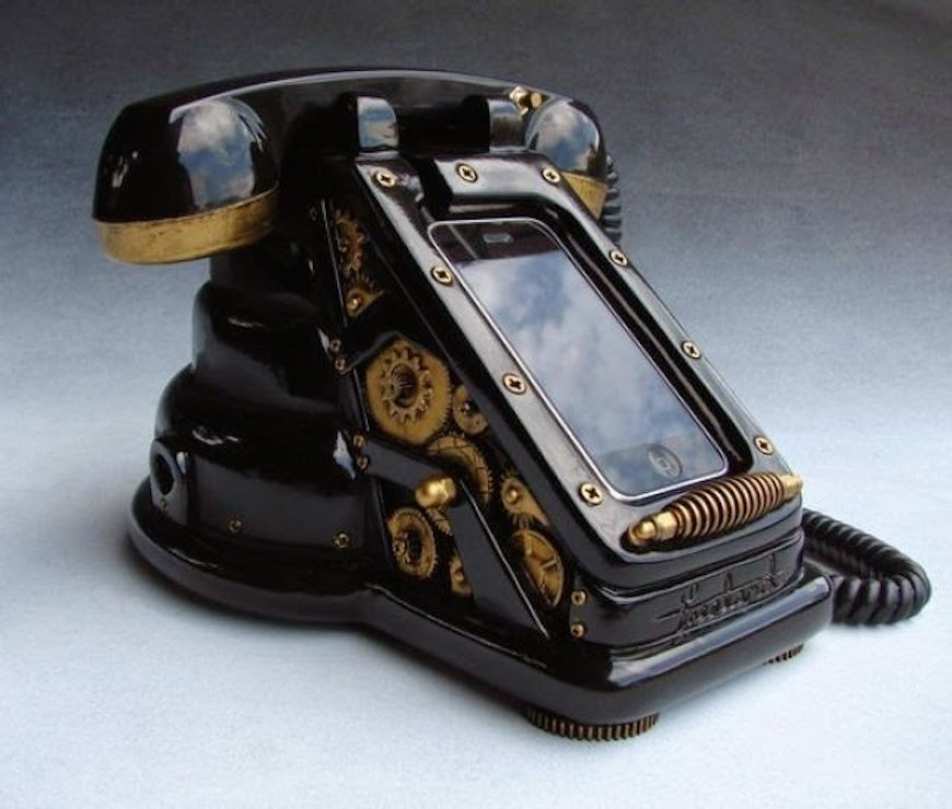 Steampunk old phone