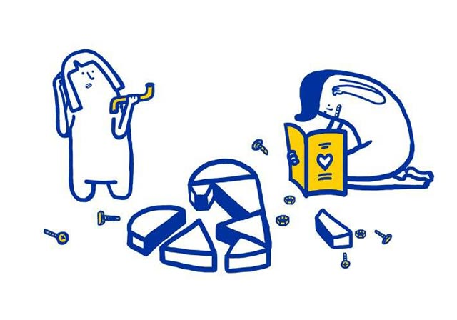 Love is complicated la série d'illustrations pleine d'humour d'Ikea 1