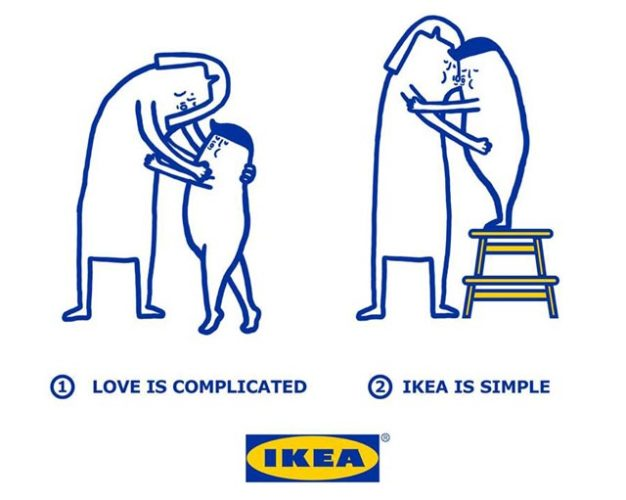 Love is complicated la série d'illustrations pleine d'humour d'Ikea 2