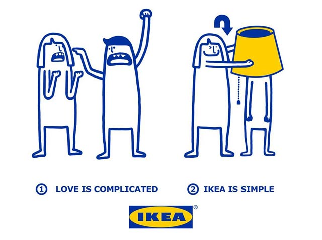 Love is complicated la série d'illustrations pleine d'humour d'Ikea 3