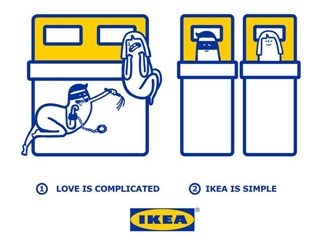 Love is complicated la série d'illustrations pleine d'humour d'Ikea 4