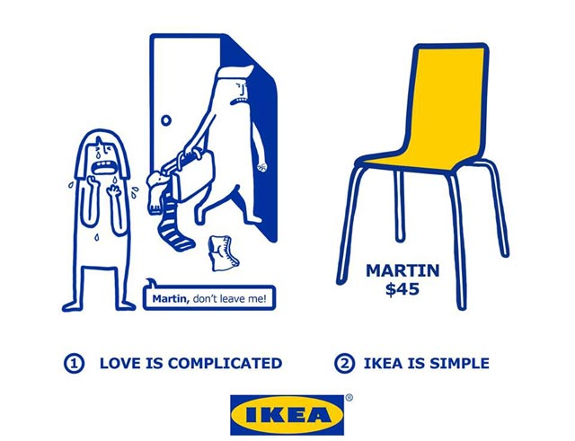 Love is complicated la série d'illustrations pleine d'humour d'Ikea 5