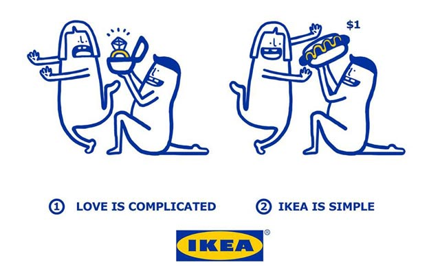 Love is complicated la série d'illustrations pleine d'humour d'Ikea 7