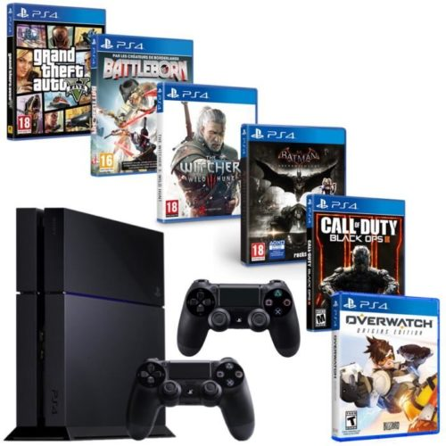 bon plan une ps4 avec 6 jeux et 2 manettes pour 399. Black Bedroom Furniture Sets. Home Design Ideas