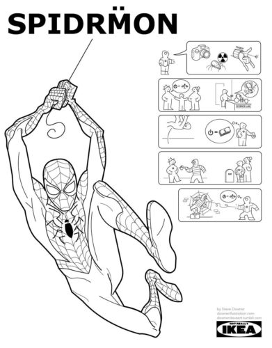 Spiderman à la sauce IKEA