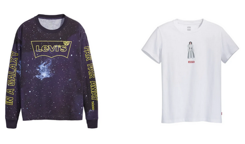 Levi's X Star Wars logo carrie fisher