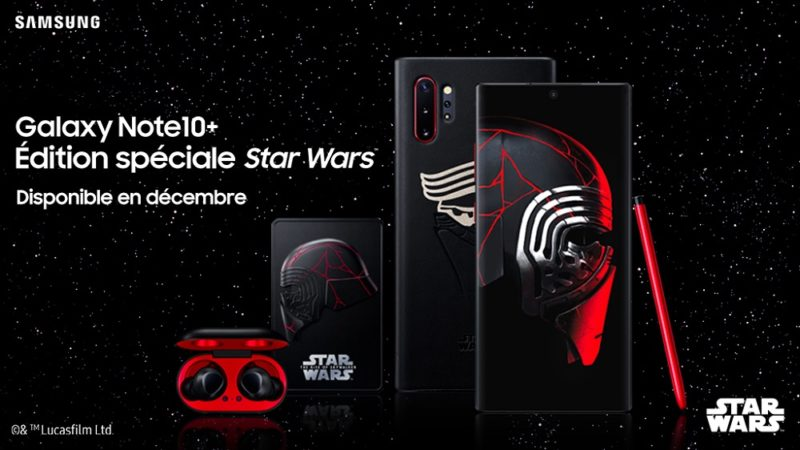 smartphone collector Galaxy Note10+ édition spéciale Kylo Ren
