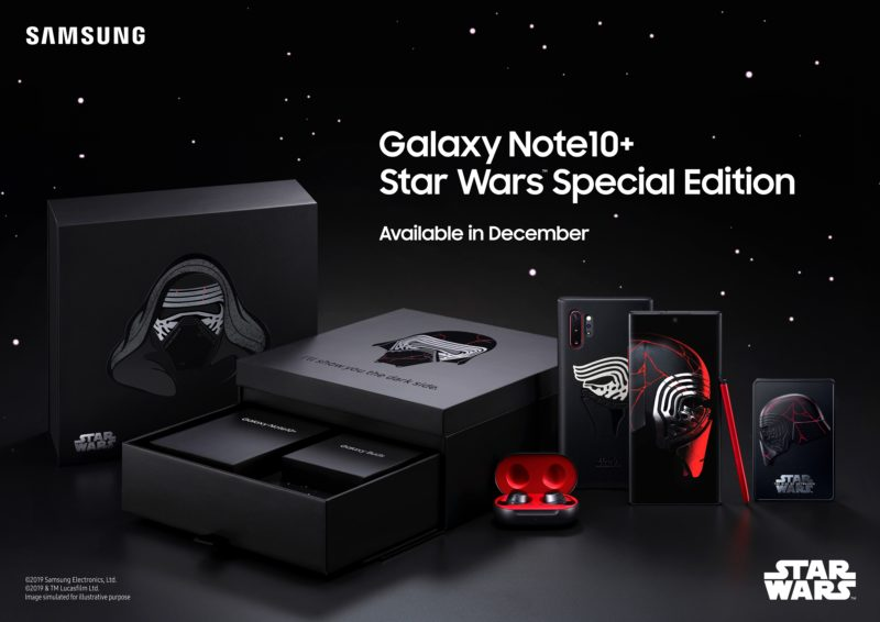 coffret smartphone collector Samsung Galaxy Note10+ édition spéciale Star Wars