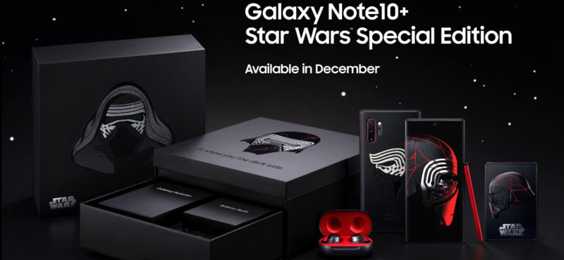 coffret smartphone collector Galaxy Note10+ édition spéciale Star Wars
